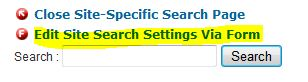 Edit Search Settings Via Form