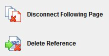Disconnect Following Page or Delete Reference